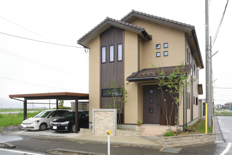 外観 - 開放感を生み出す住まい - 山田建築店