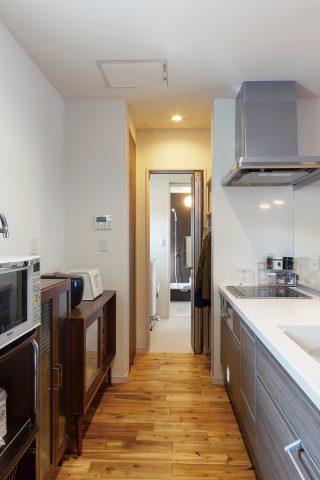 家事動線 - 家事がしやすい動線+ゆとりある収納でアパート暮らしの不便さを解消した家 - 山田建築店