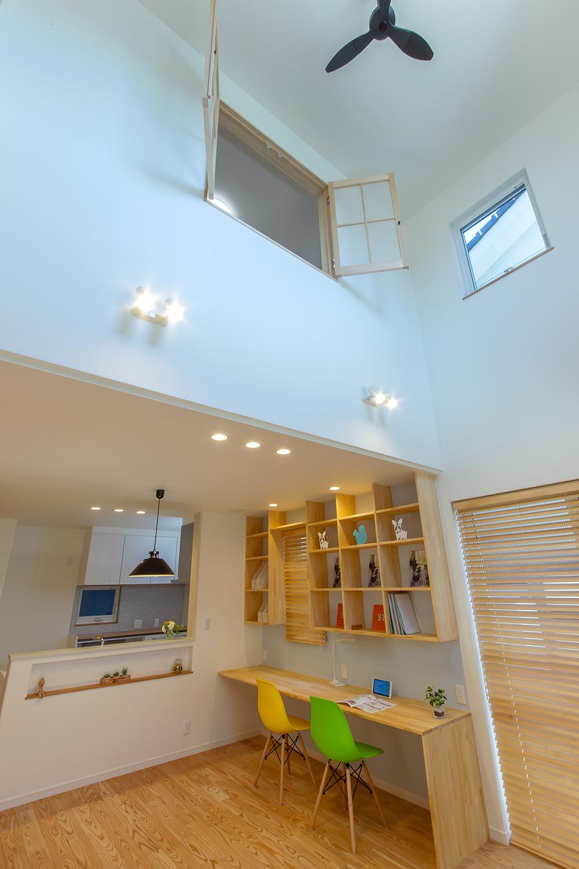 吹き抜け - やさしい木の家 施工事例 - 山田建築店