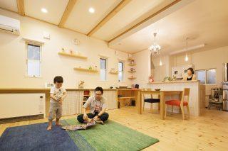 リビング - カントリーテイストな住まい - 山田建築店